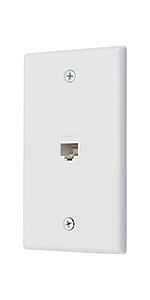 1 port ethernet wall plate