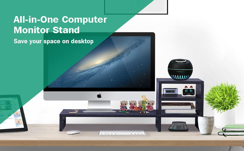 desktop computer monitor stand riser