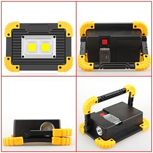 Handheld portable work lights
