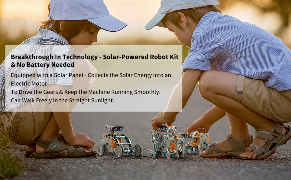 14 - CIRO STEM Projects | 12-in-1 Solar Robot Toys, Education Science Experiment Kits For Kids Ages 8-12, 190 Pieces Building Set For Boys Girls