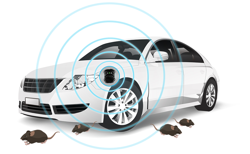 Loraffe Under Hood animal repeller ultrasonic rat repellent mice deterrent electronic vehicle engine