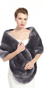 scialle in pelliccia sintetica