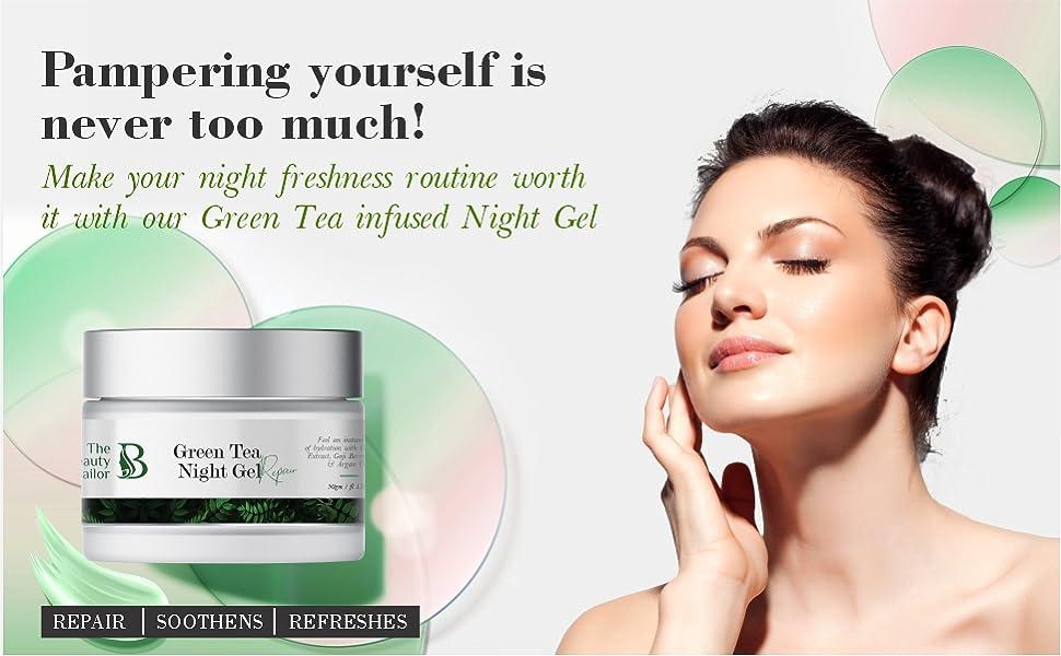night cream for women glowing green tea night gel green tea night gel for glow green tea