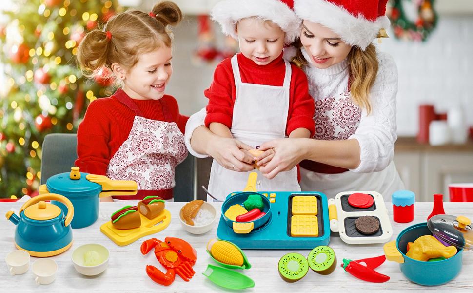 toy food,kids play kitchen,small kitchen,kids kitchen accessories set,fake food,kids cooking sets