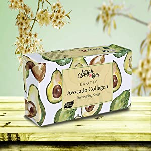 mirah belle organic and natural avocado collgen soap for men and women