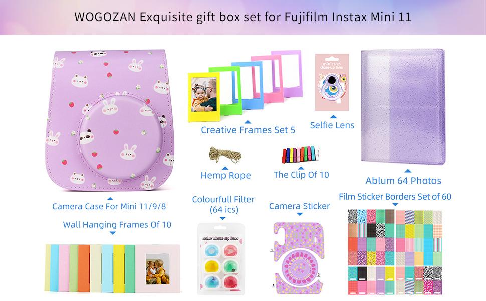 WOGOZAN Exquisite gift box set for Fujifilm Instax Mini11