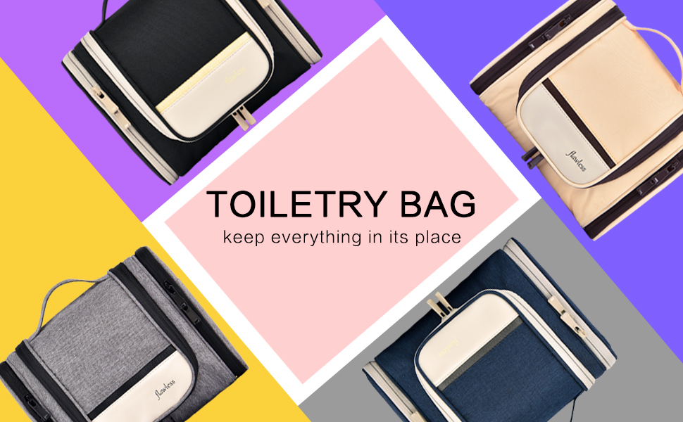 You have 4 colors for choice of caweylife toiletry bag keep everything in its place