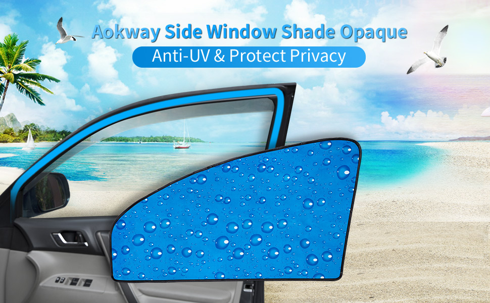 Mixsuper Magnet Mesh Car Side Window Sun Shades UV Rays Protection Window Shade for Volvo V60 2010-2018 6 Pack