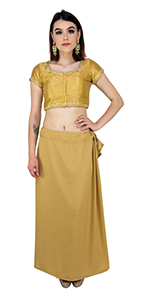 Indian Saree Petticoat Bollywood Petticoat SareePetticoat Underskirt Lining InSkirt Light Blue Satin Stitched Sari Petticoat