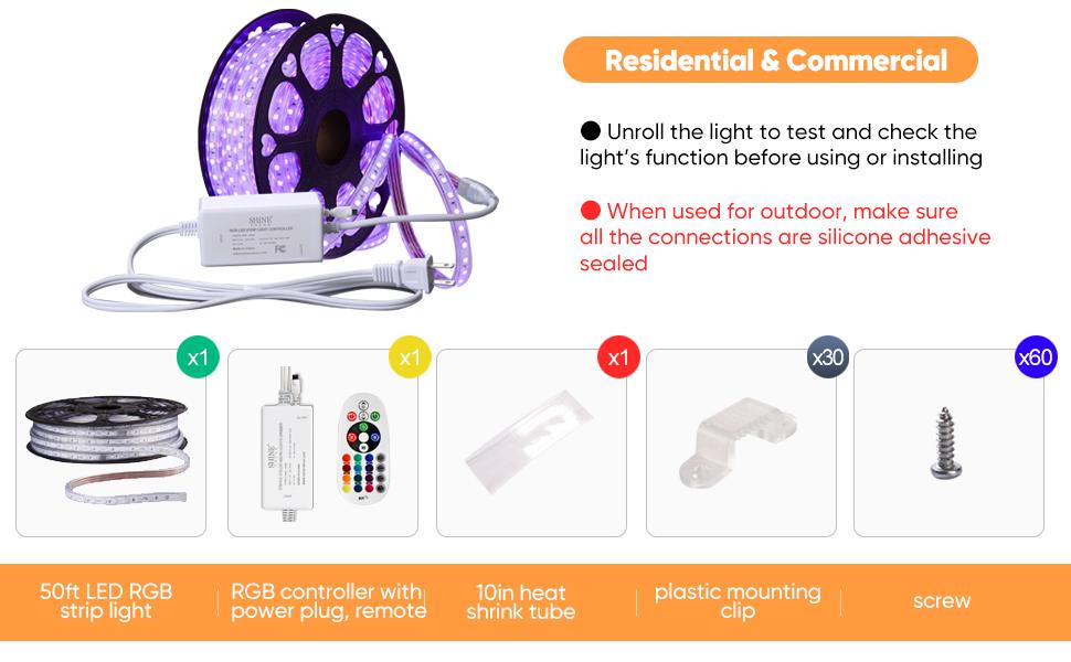 Shine Decor LED RGB Multi-color LED Strip Light