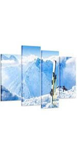 Skiing Poster Art Prints snow canvas wall art