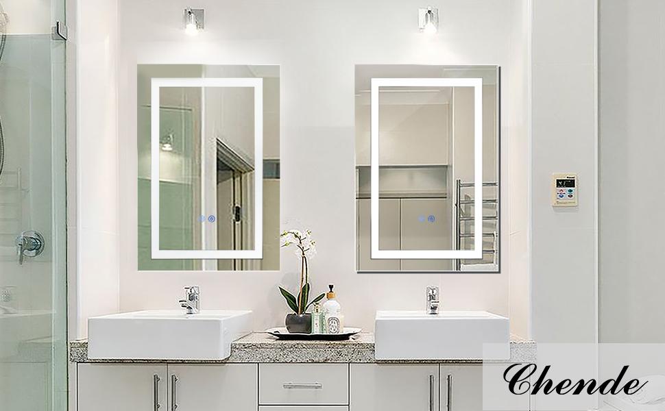 lighted bathroom cabinet