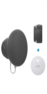 Supporto a Parete Senza Viti per Nest Mini di Google 2nd Gen Argento KIWI design Gancio Adesivo Metallico per Nest Mini di Google