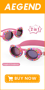 Kids 2 in 1 Swim Goggles & Sunglasses (Age 4-16)