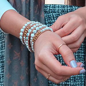 bracelet new wave edgy free spirit healing wrist comfortable non-comedogenic tight skinny crystal