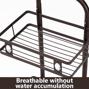 Metal Standing Shower Caddy, 3-Tier Bath Shelf Baskets for Towels, Soap, Shampoo, Accessories