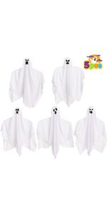 """7.5"""" Halloween Hanging Ghosts"""