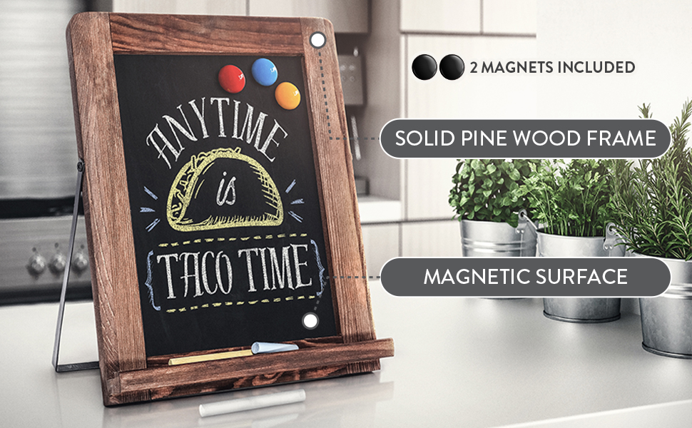 Amazon Com Chalkboard Magnetic Non Porous Framed Chalkboard Vintage Decor Standing Chalk Board For Wedding Kitchen Bar Restaurant Menu Tabletop And Home Chalkboard Sign 10 X 12 5 Inches Blackboard Office Products
