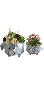 galvanized metal pig tray pig planter farmhouse pig decor galvanized metal pig bowl pig metal bucket