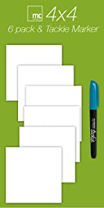 4 inch dry erase sticky notes post-it replacement