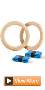Wood Gymnastics Rings