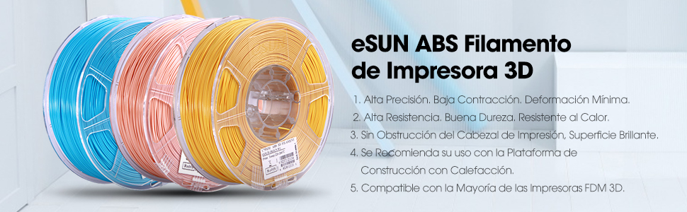 eSUN ABS Filamento de Impresora 3D, Filamento ABS 2.85mm ...