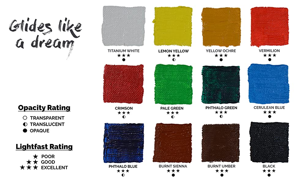 acrylic paint swatch for acrylic painting