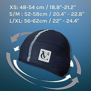 3 sizes skull cap vc