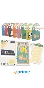 8 pcs Cute animal design baby closet dividers