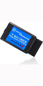 picture of wifi obdii reader for iphone ios ipad or android devices
