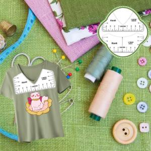 T-shirt ruler for V-neck clothes