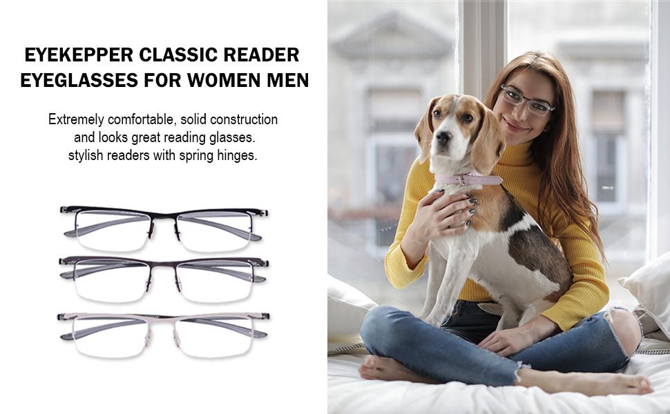 Eyekepper Classic Reading Glasses For Women Men