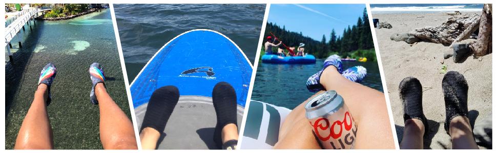 JIASUQI Unisex Athletic Summer Barefoot Water Shoes Beach Pool for Women Men
