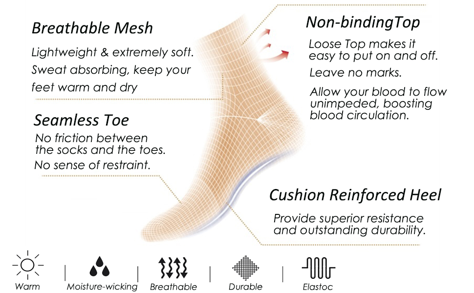 seamless diabetic socks