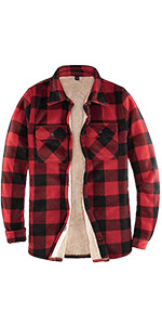 Women's Lined Fleece Plaid Shirt Jacket Sherpa Fleece Throughout Flannel Shirt