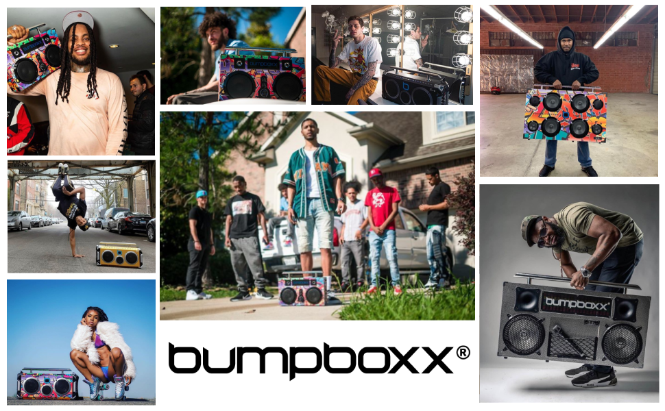 bumpboxx, boombox, retro boombox, boombox with bluetooth, bluetooth boombox, ghetto blaster