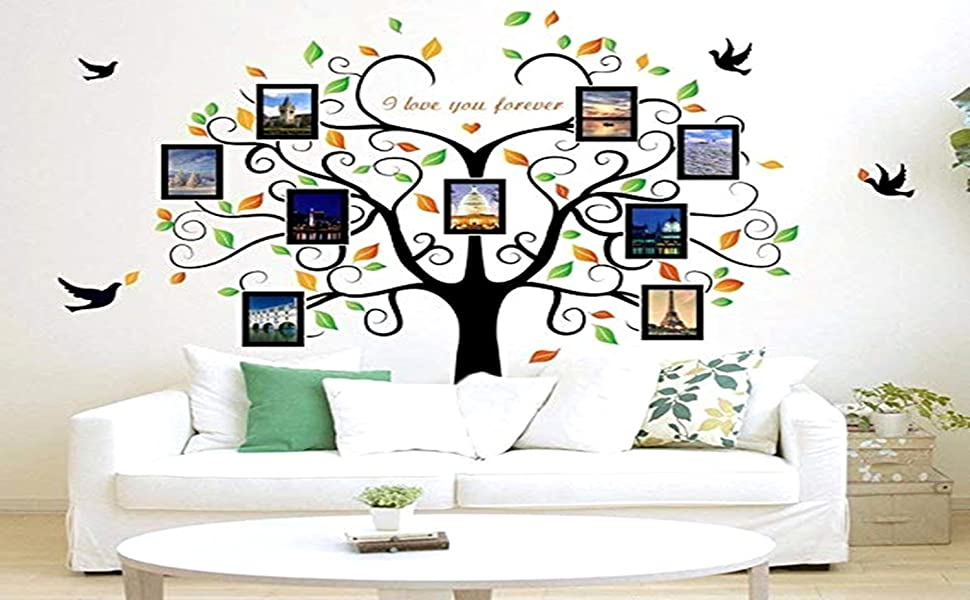 Family Tree Wall Decal Sticker Large Vinyl Photo Picture Frame Removable