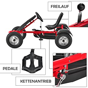 ArtSport 2 Seater Go-Kart Red