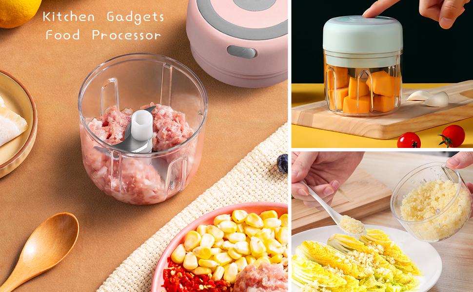 Kitchen Gadgets garlic press  crusher mincer food processor food chopper and manual food processor