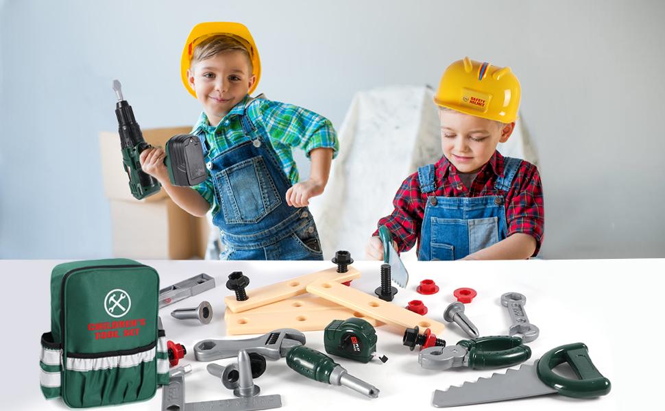 Toyssa 32 Piezas Herramientas Juguete Niños Caja Herramientas Juguete con Taladro Juguete y Numerosos Accesorios Cumpleaños Navidad Regalo Juegos de Imitación para Niños 3 4 5 6 7 8 años: Amazon.es: Juguetes y juegos