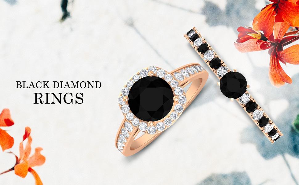 banner Black Diamond Rings