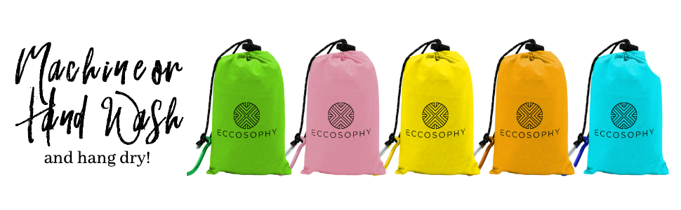 Hand Wash and Hand Dry. It'll only take minutes. All Eccosophy Pocket blanket