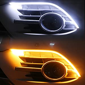 Flexible Led Light Strip Daytime Running Light Switchback Sequential Headlight Strip waterproof