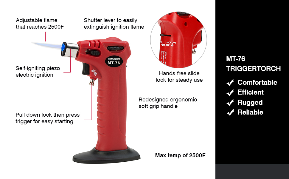 Master Appliance MT-51H MicroTorch 2 in 1 Self-Igniting Flameless Heat Tool