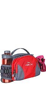 fanny pack for women men kids bog girl water bottle holder camping hiking black red blue waist bag