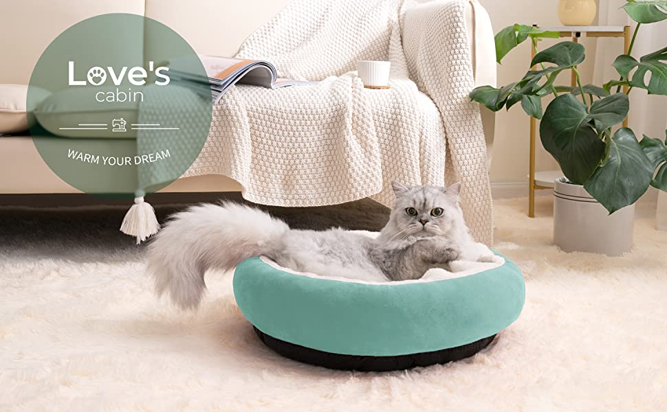 Love's cabin pet bed, offers maximum comfort and warmth for your furry friends