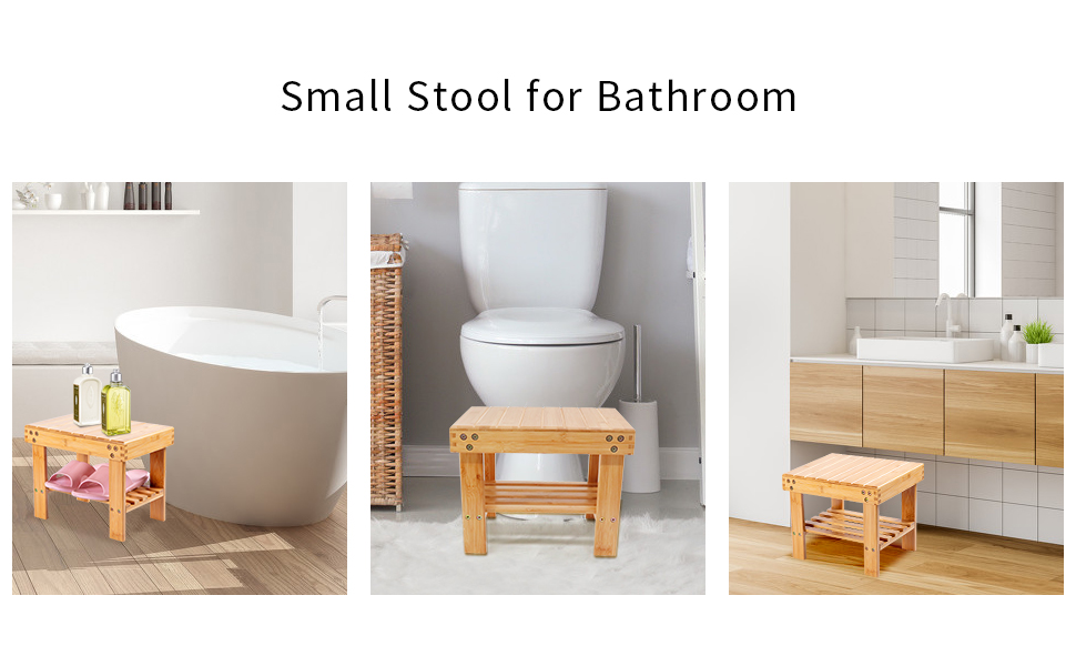 small stool in your bathroom