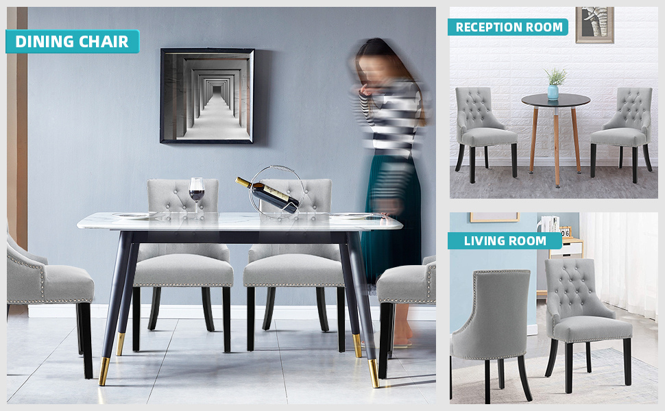 SEATZONE Dining Chairs Dining Room Chairs Kitchen Chairs for Living Room