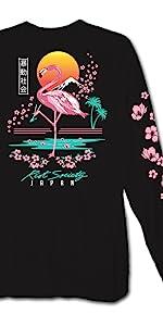 Riot Society Flamingo Blossom Long Sleeve T Shirt