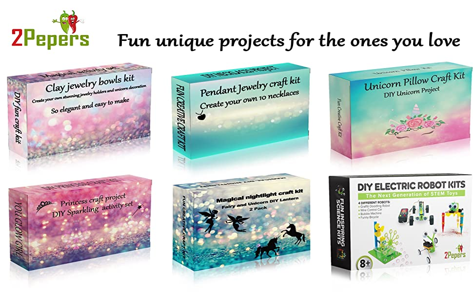 2Pepers DIY kits for kids